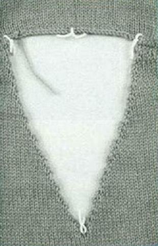 Вязание горловины спицами